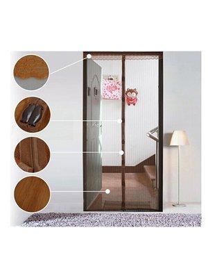 Дверная антимоскитная сетка на магнитах (коричневая) | 2571231