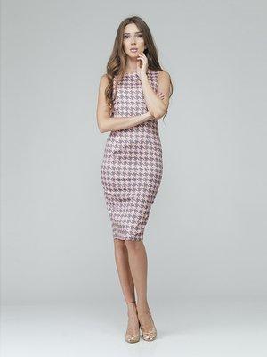 Сукня двоколірна в гусячу лапку | 2574379