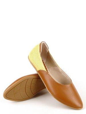 Балетки желто-коричневые | 2573530