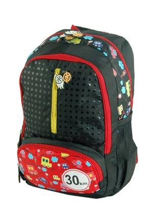 Рюкзак чорний з принтом | 2564177