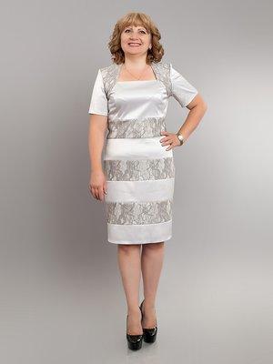 Сукня сіро-біла у візерунок | 2593044
