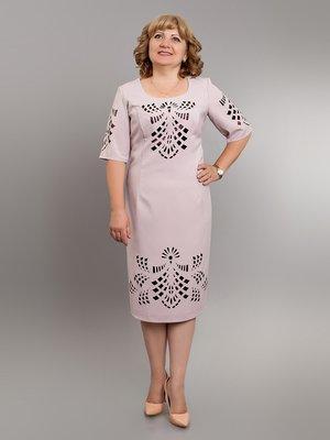 Платье цвета пудры с перфорацией | 2593050