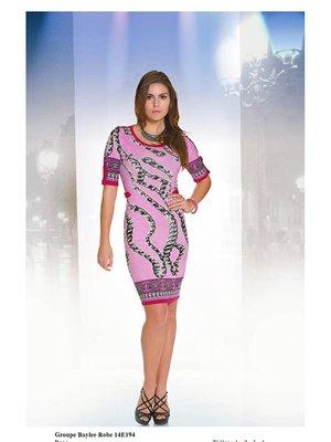 Сукня рожева у принт | 2464464
