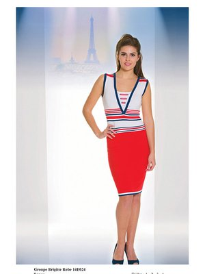 Сукня триколірна в смужку | 2464434