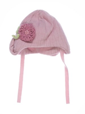 Шапка рожева з декором флісова   2585696