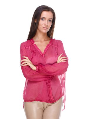 Блуза амарантового кольору | 1978094
