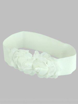 Пояс-резинка белый | 2601118