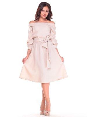 Платье бежевое | 2601632