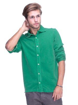 Рубашка зеленая | 2605469