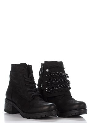 Ботинки-трансформеры черные со съемным верхом | 2611715