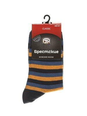 Шкарпетки триколірні в смужку | 2621705