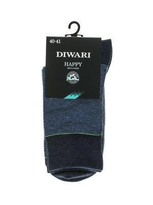 Шкарпетки темно-сині у смужку | 2621686