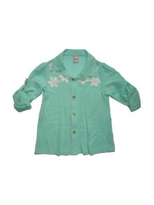 Блуза м'ятного кольору | 2626986