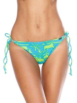 Трусы зелено-голубые с принтом купальные | 2627531