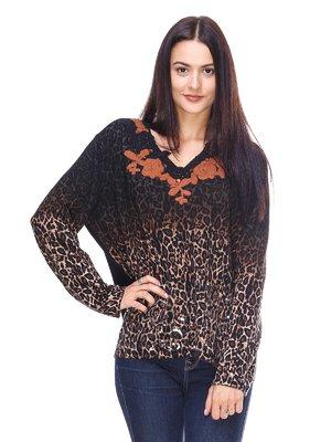Пуловер анималистической расцветки | 2619147
