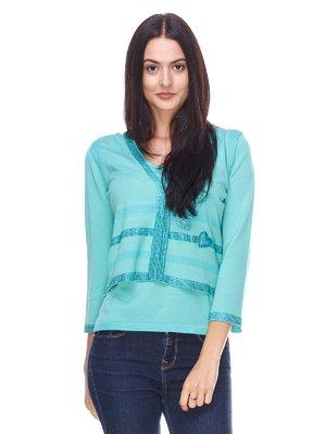 Пуловер зеленый | 2316638