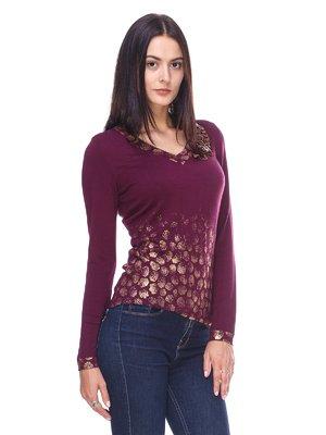 Пуловер бордовий | 2619148