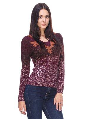 Пуловер анімалістичного забарвлення | 2619146