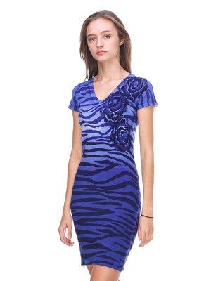 Сукня синя в анімалістичний принт | 2619415