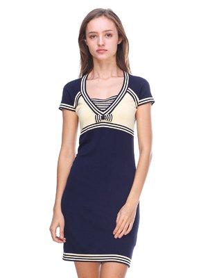 Платье желто-синее   2619417