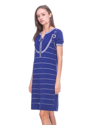 Платье синее в полоску   2619389