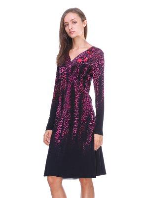 Платье черное в принт | 2619144