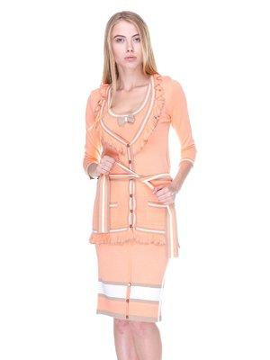 Комплект: кардиган, топ и юбка   2619301