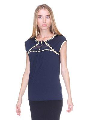 Блуза синяя   2619377