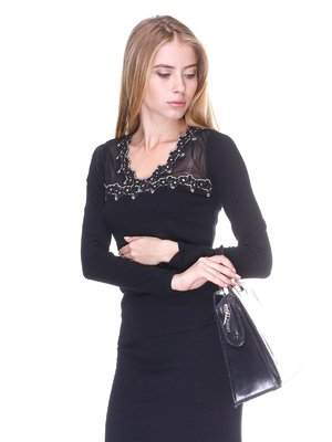 Пуловер черный | 2635294