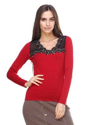 Пуловер красный | 2635292
