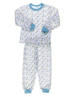 Пижама с начесом: джемпер и брюки | 2635815