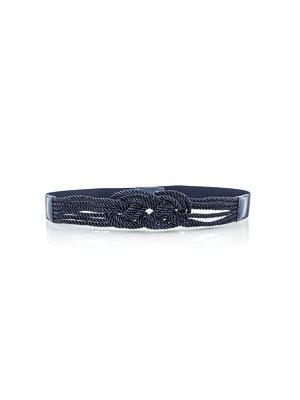 Пояс-резинка темно-синий | 2643628