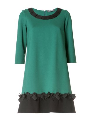 Платье зелено-черное | 2643846