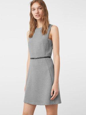 Платье черно-белое в гусиную лапку | 2646686