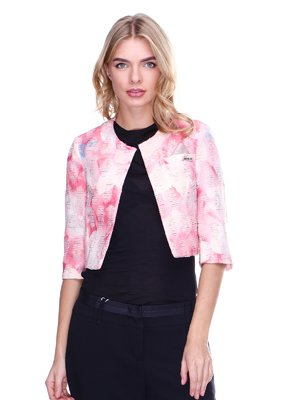 Жакет розовый с цветочным принтом | 2638690