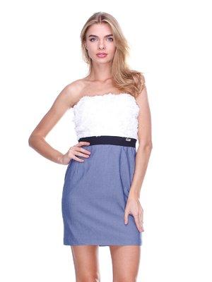 Платье-бюстье двухцветное | 2638577