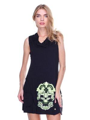 Сукня чорна з малюнком | 2638513