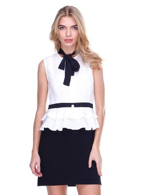 Платье бело-черное | 2638551