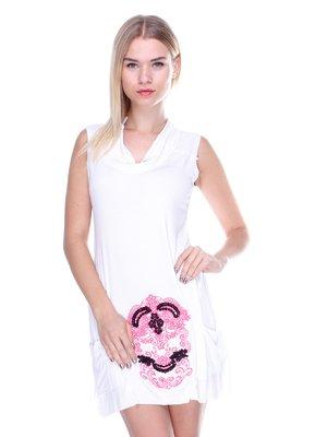 Сукня біла з малюнком | 2638511