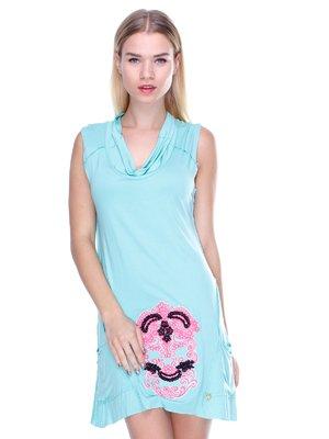 Сукня бірюзова з малюнком | 2638512