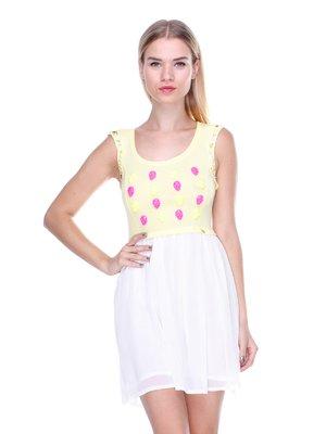 Сукня двоколірна з декором | 2638516