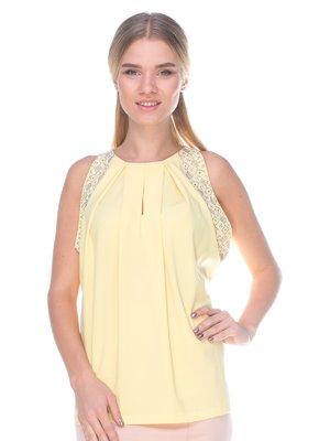 Блуза жовта з декором | 2590982