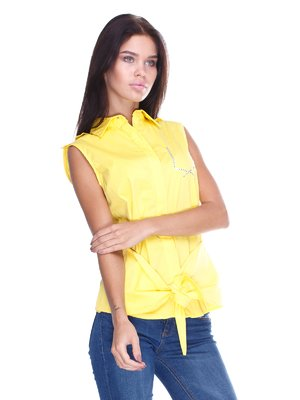 Блуза жовта з написом | 2644996