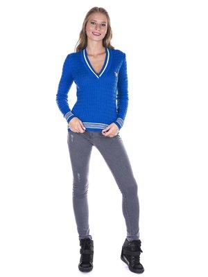 Пуловер ярко-синий   2658866