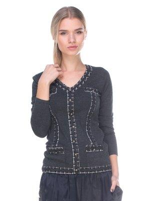 Пуловер темно-серый   2627827