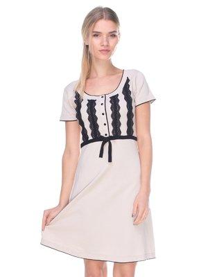 Платье бежевое | 2627953
