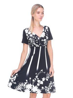 Платье черное в принт   2590968