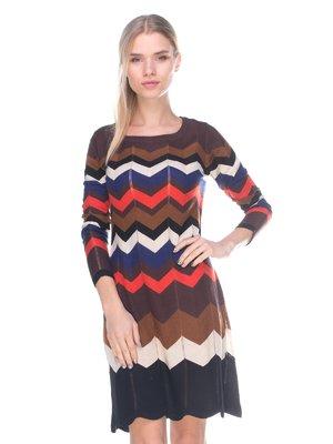 Платье в зигзагообразную полоску | 2627932