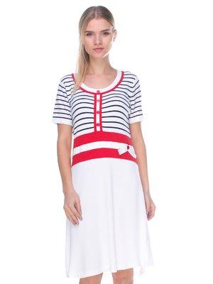 Платье белое в полоску | 2434177