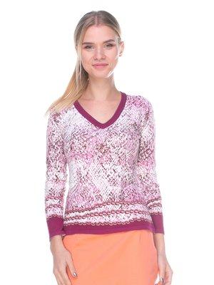 Пуловер рожевий в принт | 2627844